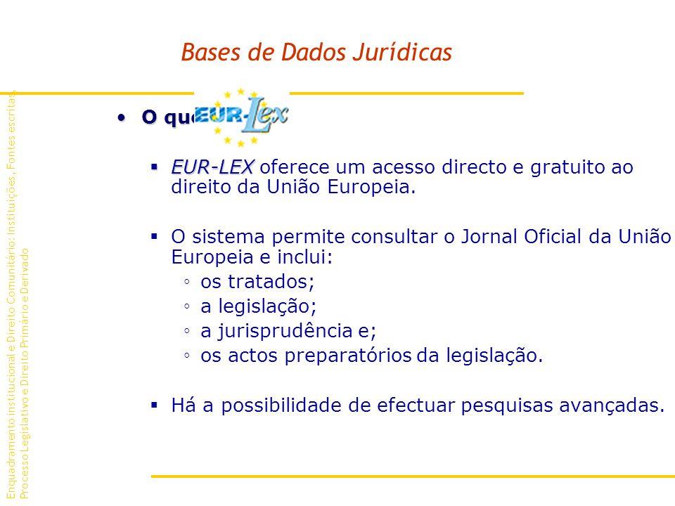 Bases de Dados Jurídicas O que é O que é.