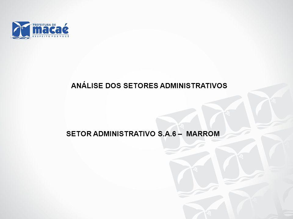 ANÁLISE DOS SETORES ADMINISTRATIVOS SETOR ADMINISTRATIVO S.A.6 – MARROM