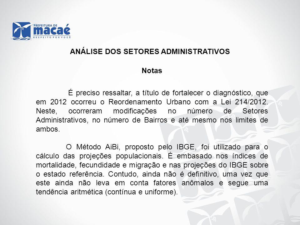 Notas É preciso ressaltar, a título de fortalecer o diagnóstico, que em 2012 ocorreu o Reordenamento Urbano com a Lei 214/2012. Neste, ocorreram modif