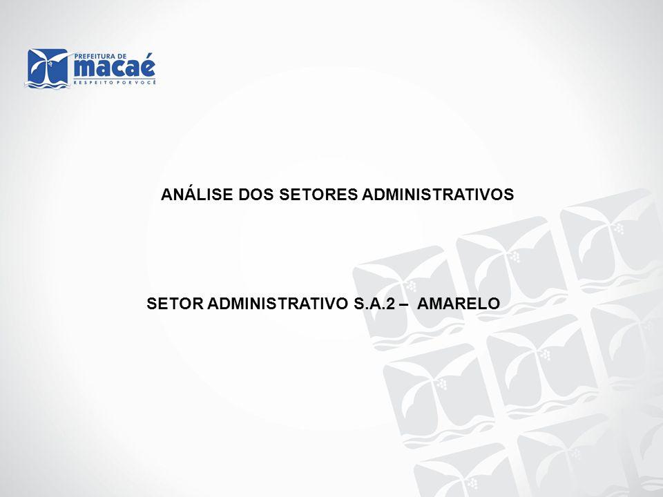 ANÁLISE DOS SETORES ADMINISTRATIVOS SETOR ADMINISTRATIVO S.A.2 – AMARELO