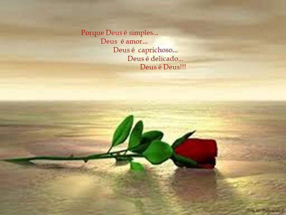 Porque Deus é simples... Deus é amor... Deus é caprichoso... Deus é delicado... Deus é Deus!!!