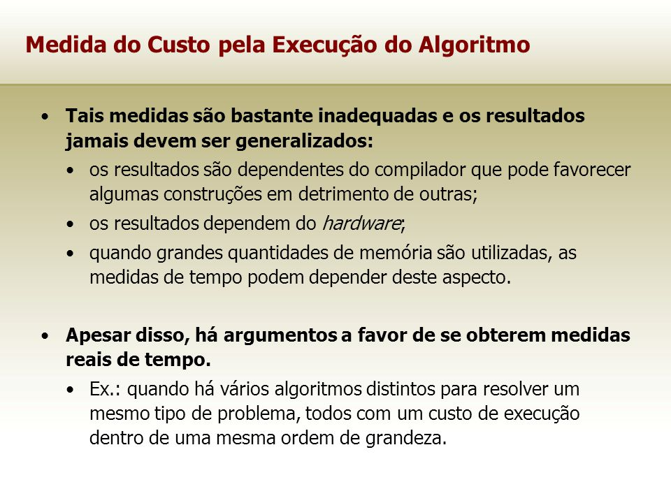Qual a função de complexidade para este novo algoritmo.