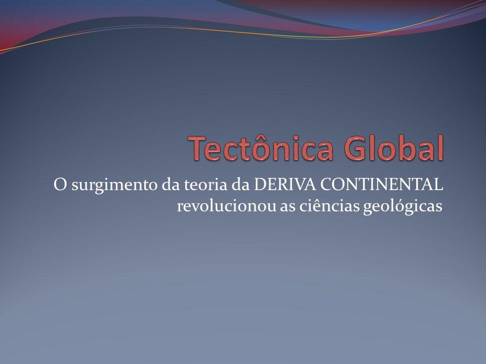 O surgimento da teoria da DERIVA CONTINENTAL revolucionou as ciências geológicas
