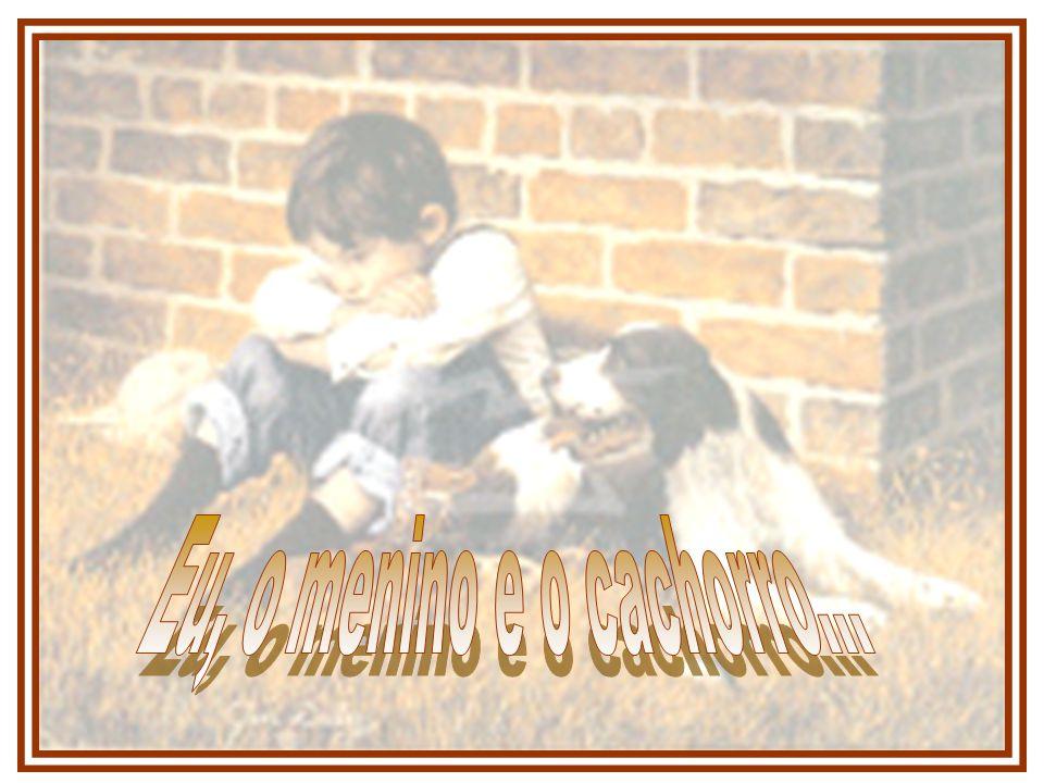 Levei-o até a minha casa, poucos quarteirões dali, e tratei daquele cachorro como se fosse um filho, e o menino, que vivia pelas ruas, foi ficando, e cuidou de mim, curou minhas feridas, antes mesmo de eu curar as feridas do cachorro.
