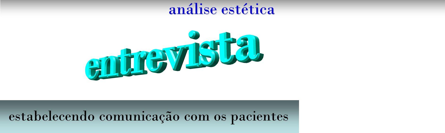 análise estética composição dental perspectiva posterior