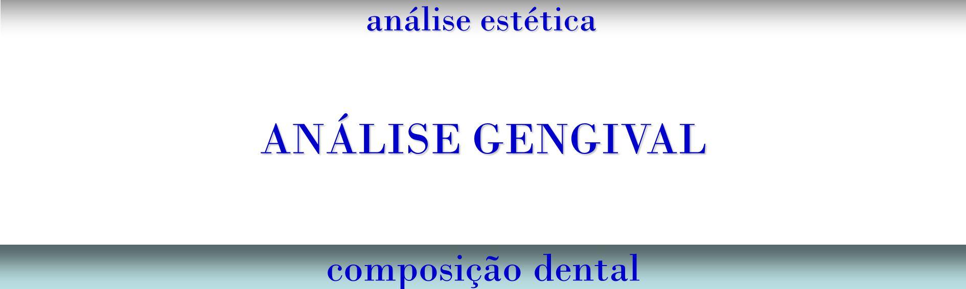 análise estética composição dental ANÁLISE GENGIVAL