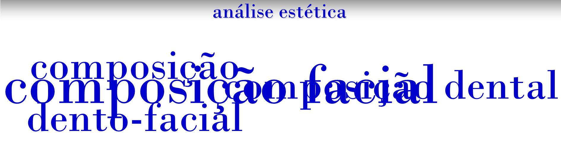 análise estética composição facial composição dento-facial composição dental