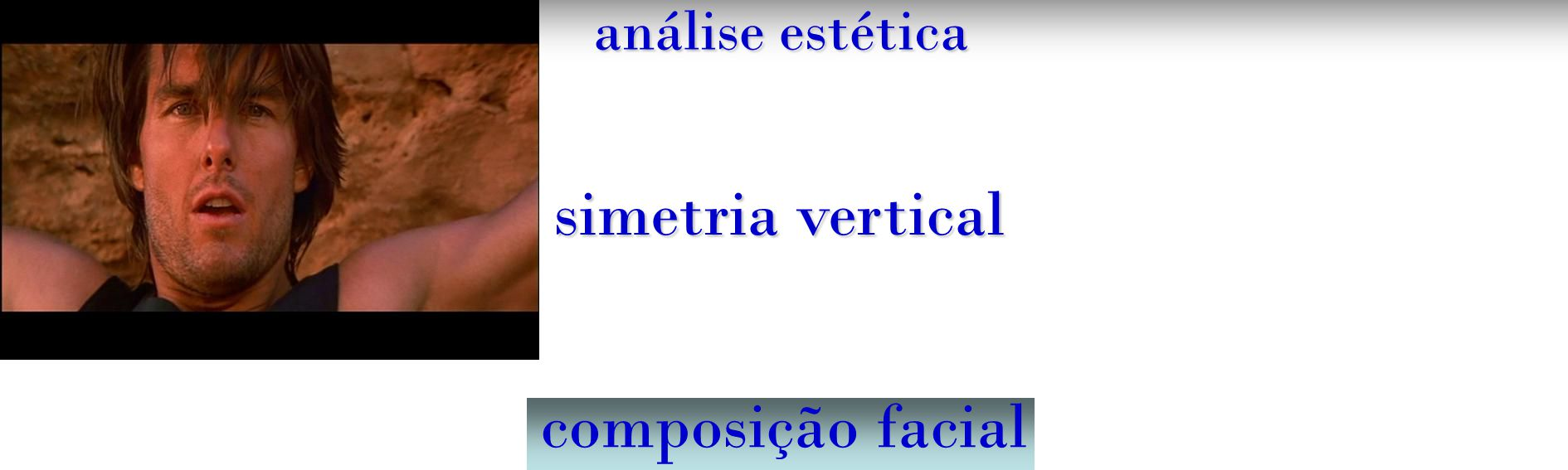 análise estética simetria vertical