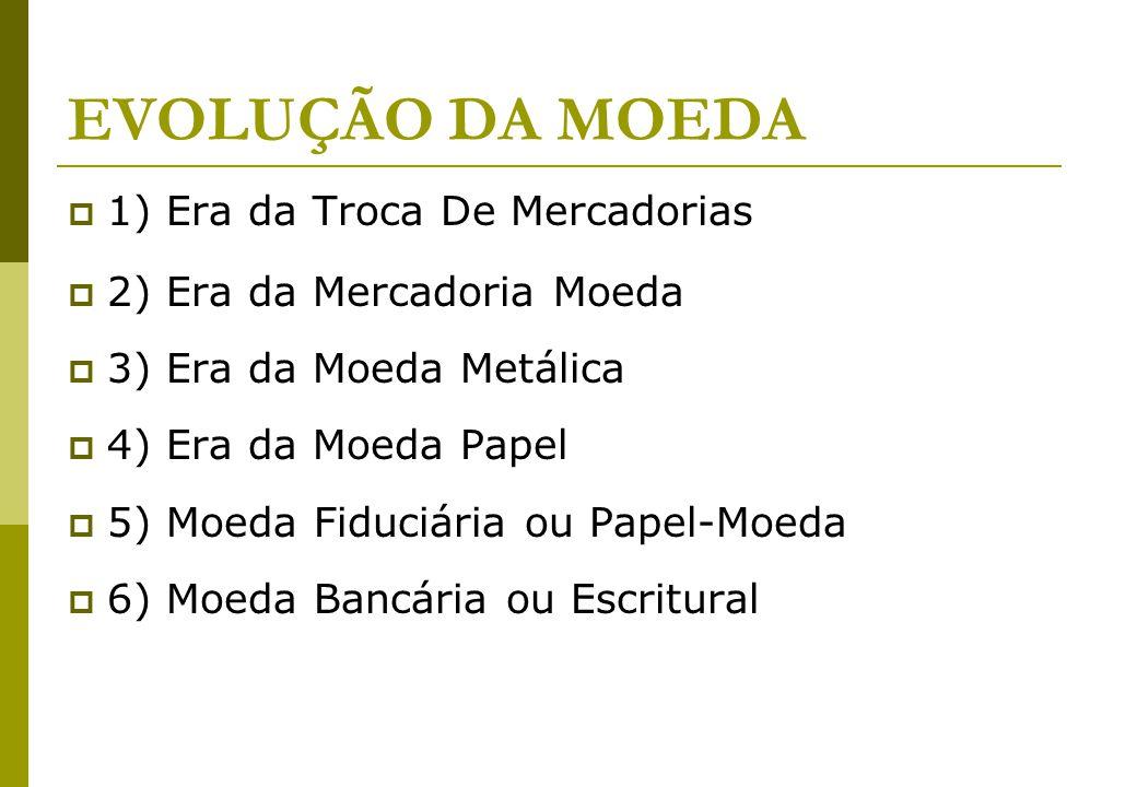 3 MOEDA É uma ponte entre a participação de cada agente no esforço produtivo para posterior aquisição.