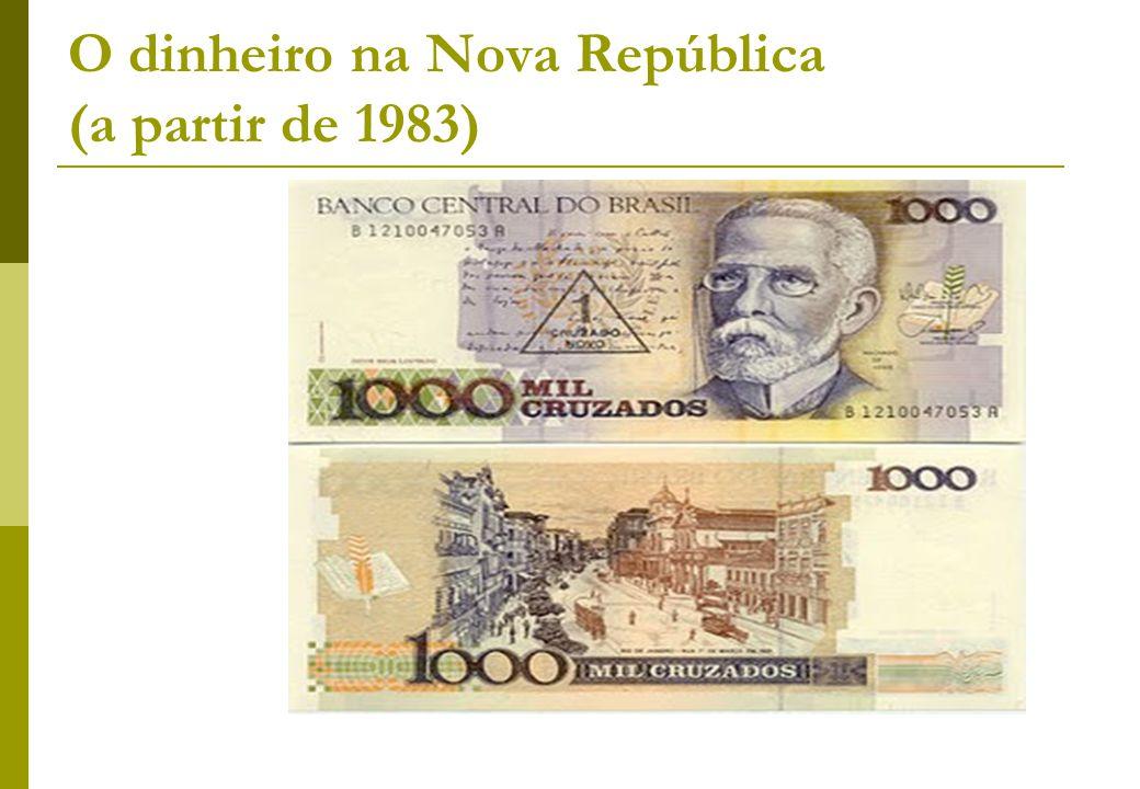 O dinheiro na Nova República (a partir de 1983)