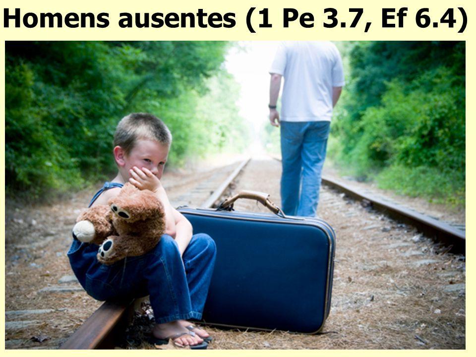 Homens ausentes (1 Pe 3.7, Ef 6.4)