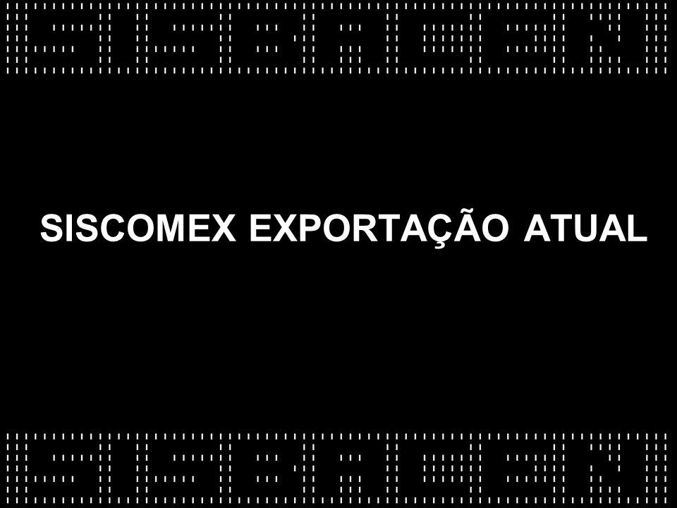 SISCOMEX EXPORTAÇÃO ATUAL