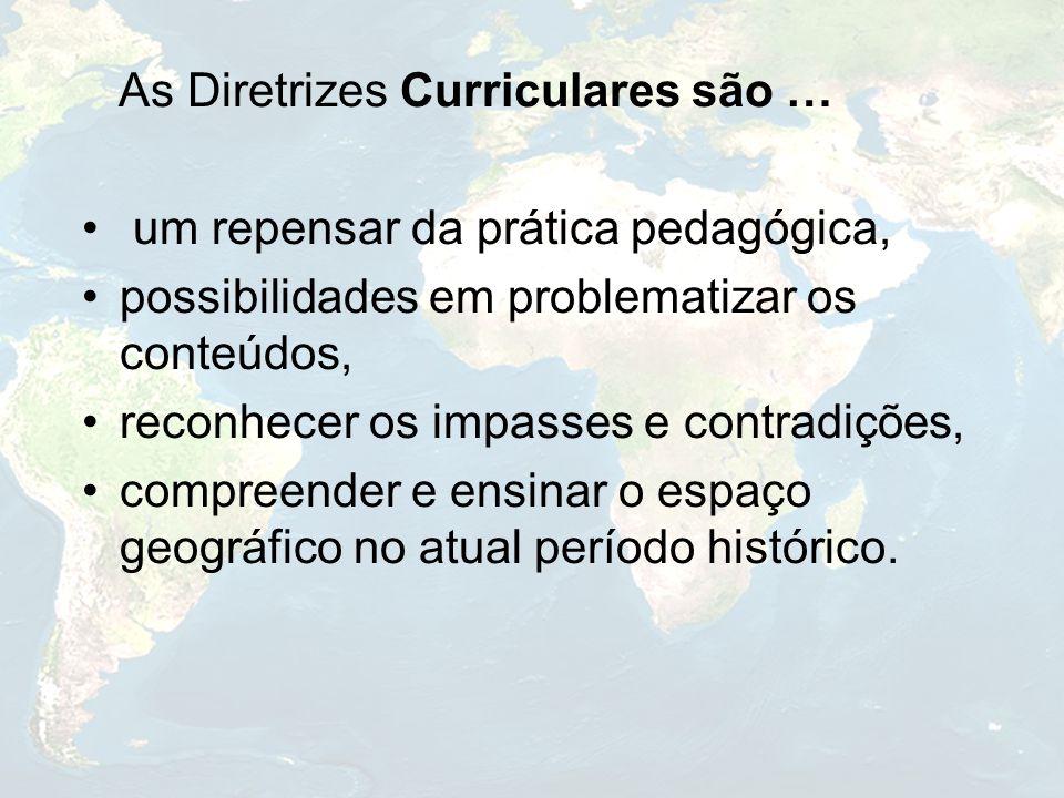 As Diretrizes Curriculares são … um repensar da prática pedagógica, possibilidades em problematizar os conteúdos, reconhecer os impasses e contradiçõe