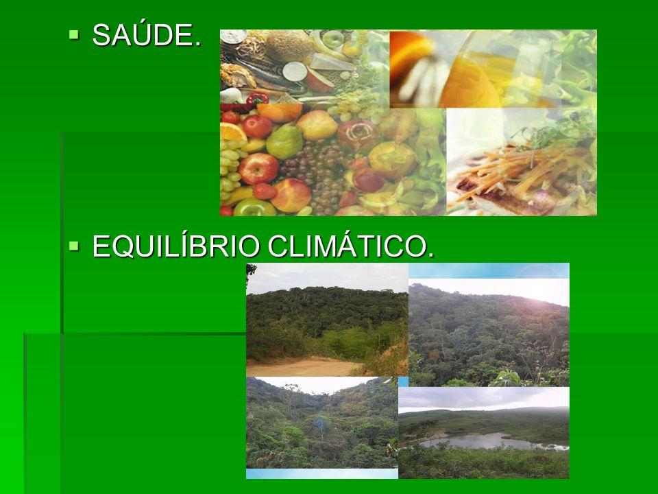 SAÚDE. SAÚDE. EQUILÍBRIO CLIMÁTICO. EQUILÍBRIO CLIMÁTICO.