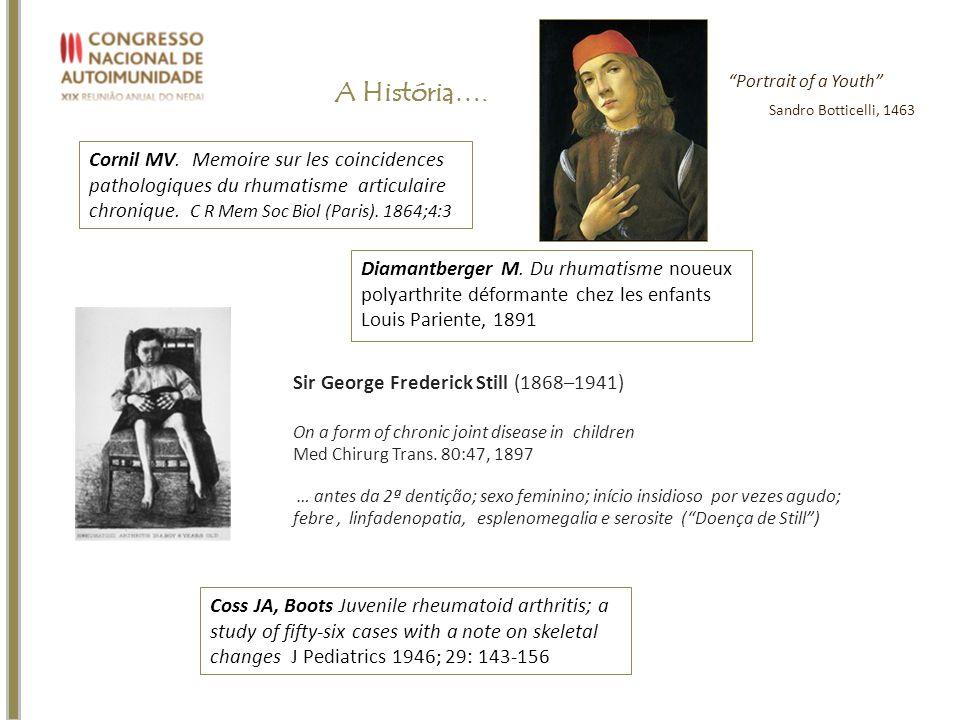 A História…. Cornil MV. Memoire sur les coincidences pathologiques du rhumatisme articulaire chronique. C R Mem Soc Biol (Paris). 1864;4:3 Sir George