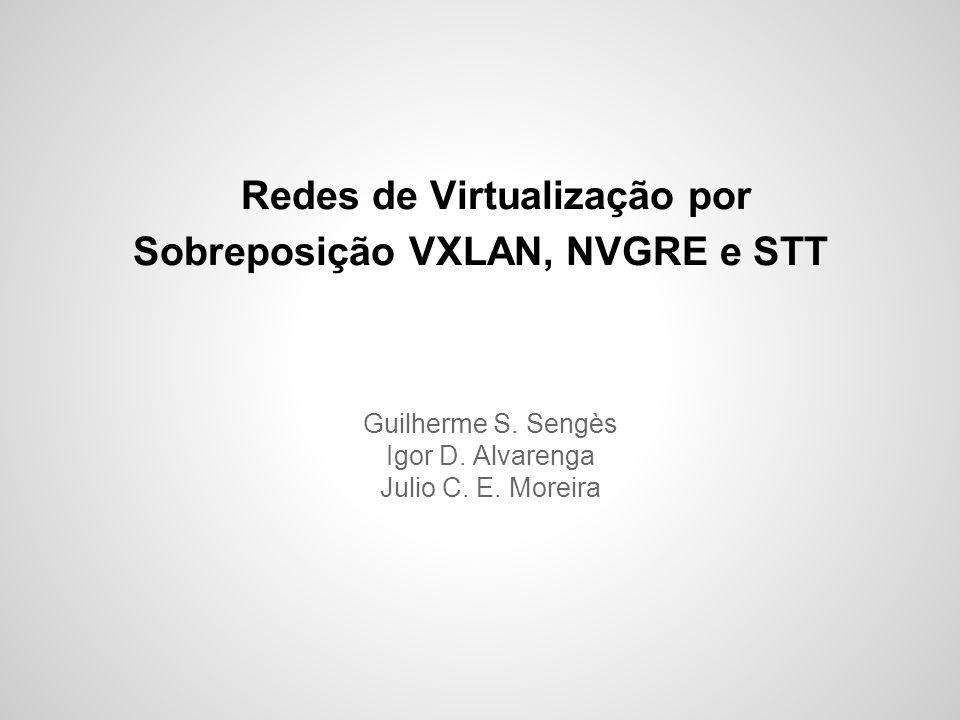Redes de Virtualização por Sobreposição VXLAN, NVGRE e STT Guilherme S. Sengès Igor D. Alvarenga Julio C. E. Moreira