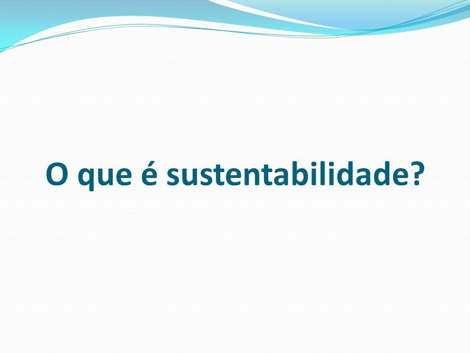 O que é sustentabilidade?