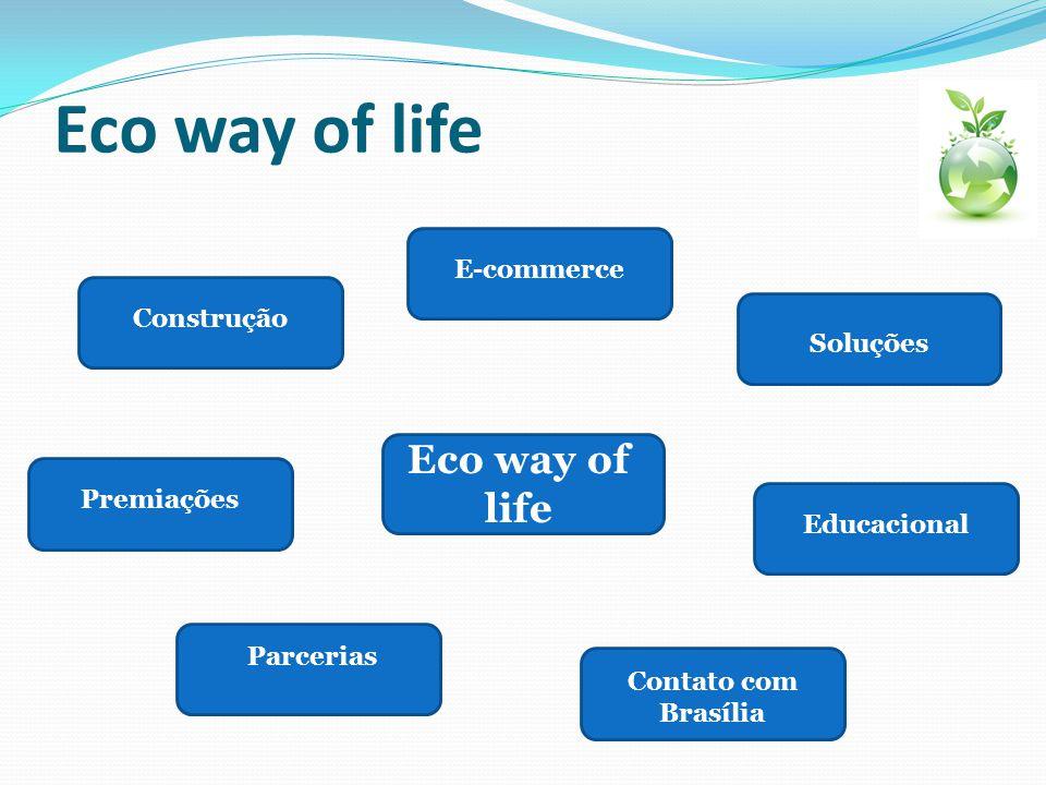 Eco way of life Parcerias Contato com Brasília Soluções Construção E-commerce Educacional Premiações