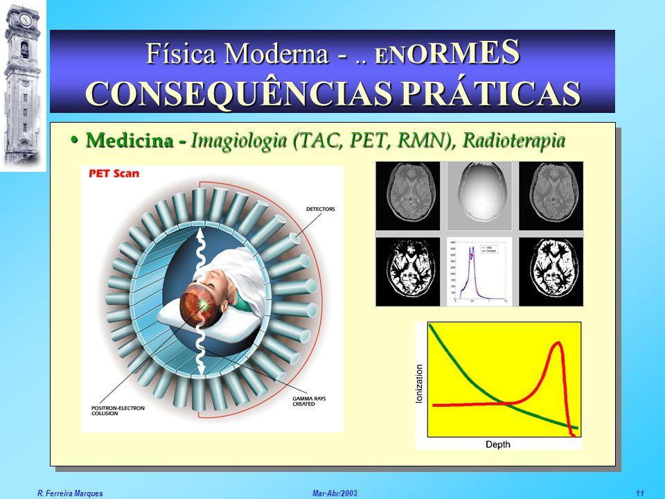 Medicina - Imagiologia (TAC, PET, RMN), Radioterapia Física Moderna -.. E N O R M E S CONSEQUÊNCIAS PRÁTICAS R. Ferreira Marques Mar-Abr/200311