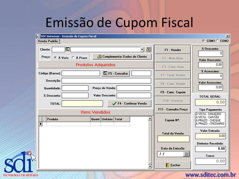 Emissão de Cupom Fiscal