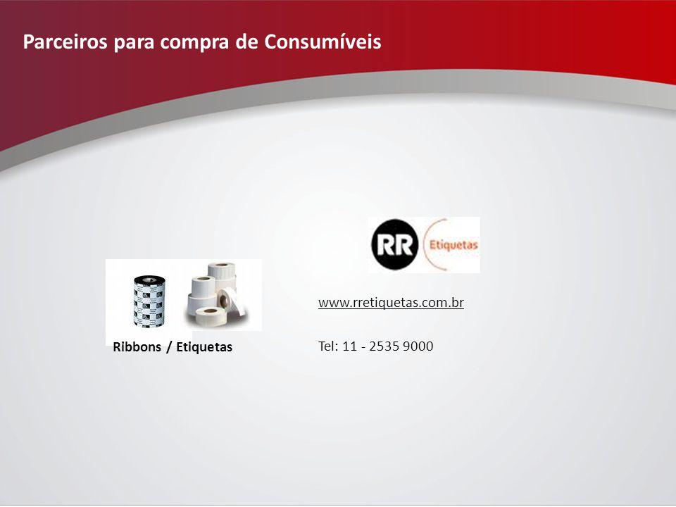 Parceiros para compra de Consumíveis www.rretiquetas.com.br Tel: 11 - 2535 9000 Ribbons / Etiquetas