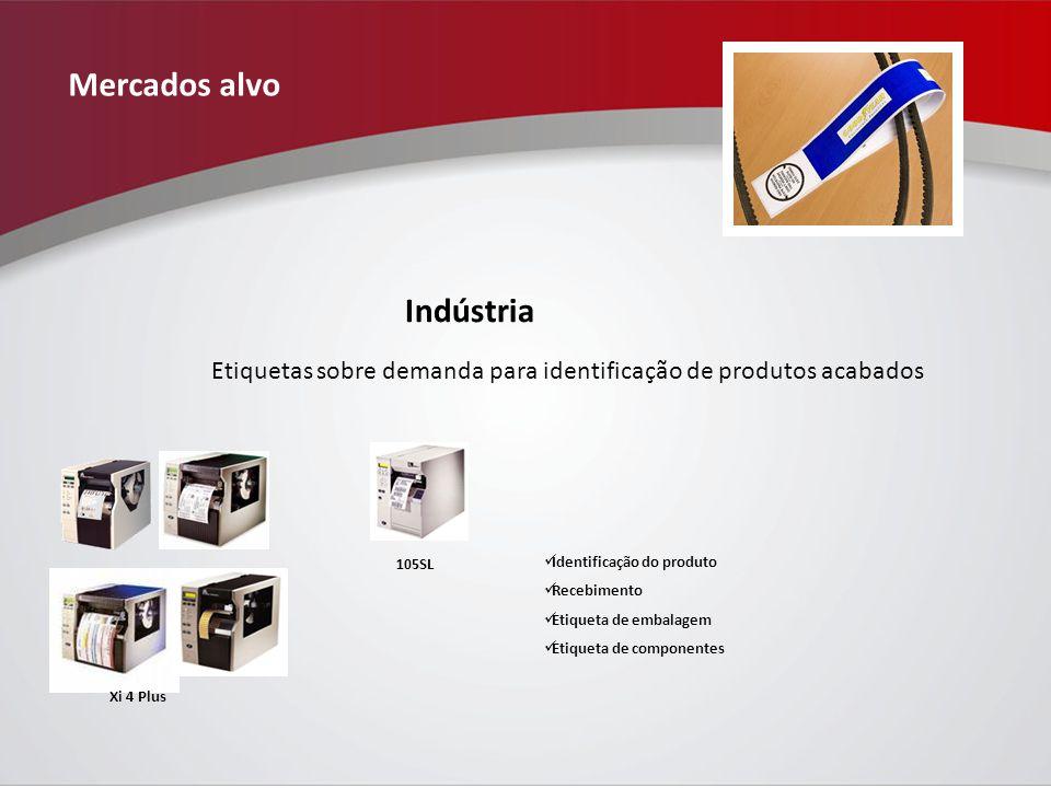 Mercados alvo Indústria 105SL Xi 4 Plus Identificação do produto Recebimento Etiqueta de embalagem Etiqueta de componentes Etiquetas sobre demanda para identificação de produtos acabados