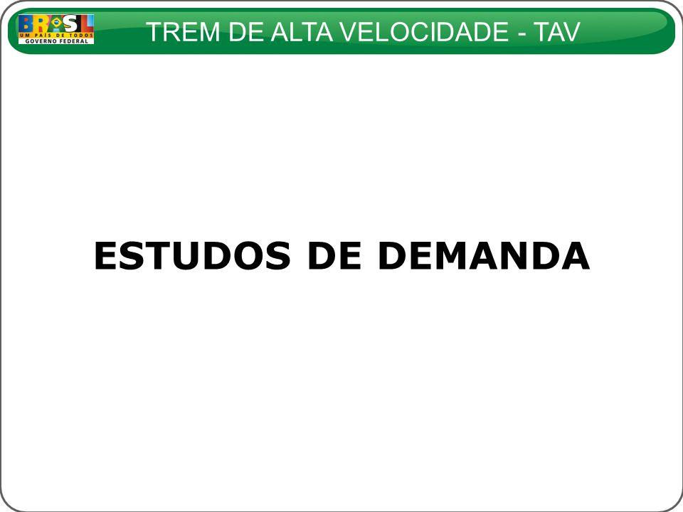 TREM DE ALTA VELOCIDADE - TAV ESTUDOS DE DEMANDA