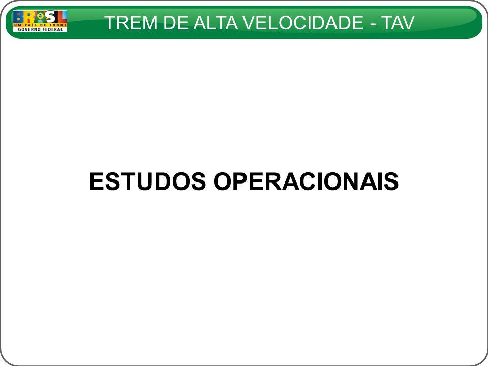 TREM DE ALTA VELOCIDADE - TAV ESTUDOS OPERACIONAIS