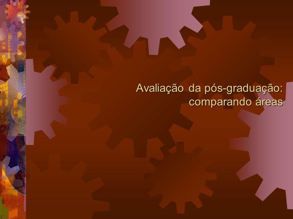 Avaliação da pós-graduação: comparando áreas