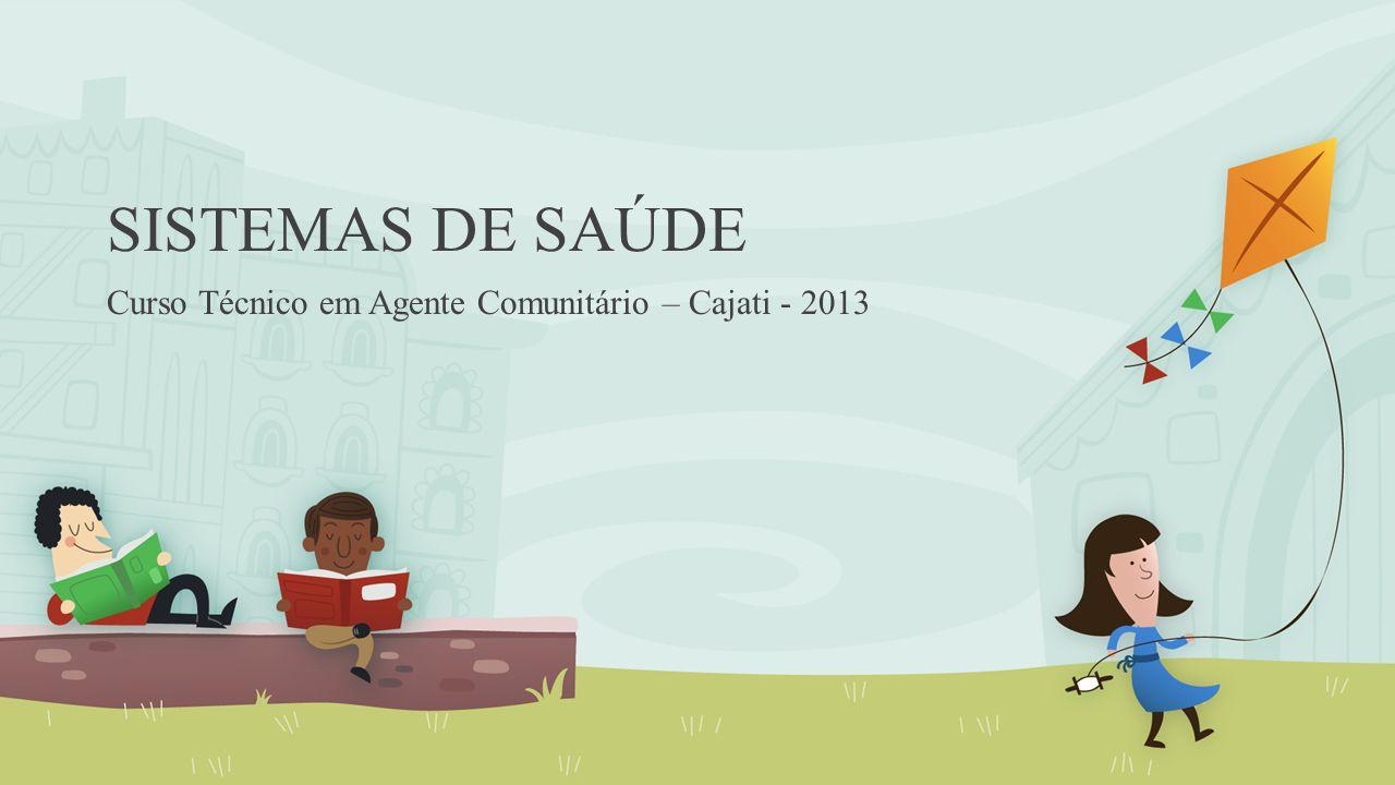 SISTEMAS DE SAÚDE Curso Técnico em Agente Comunitário – Cajati - 2013