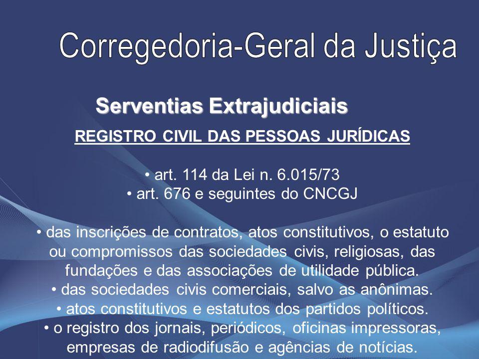 REGISTRO CIVIL DE TÍTULOS E DOCUMENTOS art.127 da Lei n.