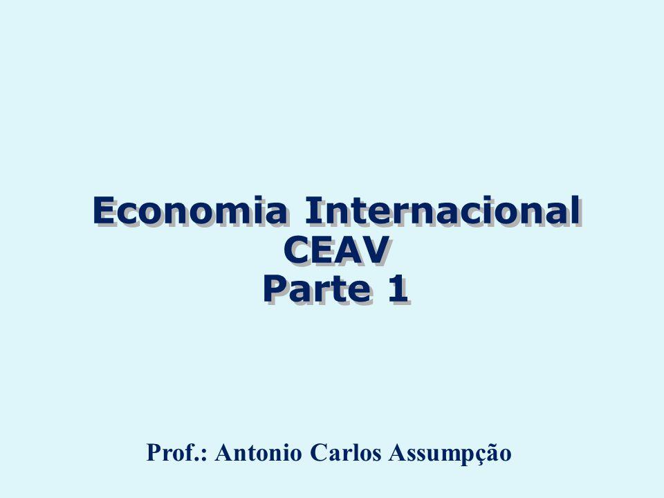 Economia Internacional CEAV Parte 1 Economia Internacional CEAV Parte 1 Prof.: Antonio Carlos Assumpção