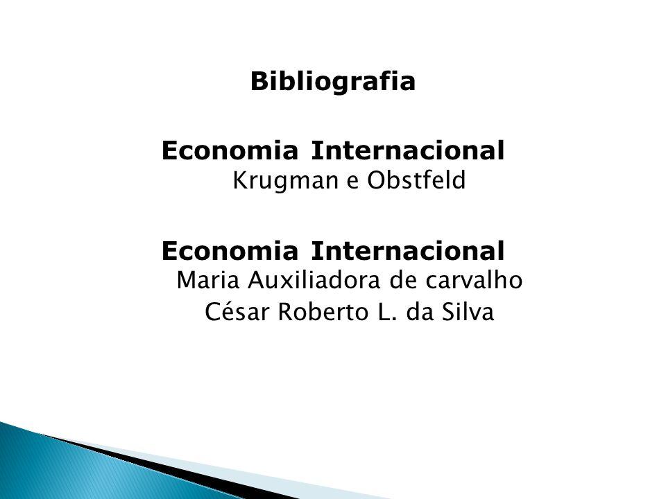 Bibliografia Economia Internacional Krugman e Obstfeld Economia Internacional Maria Auxiliadora de carvalho César Roberto L. da Silva