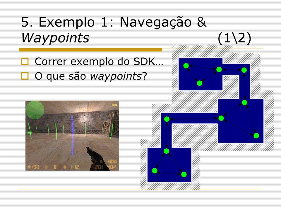 5. Exemplo 1: Navegação & Waypoints (1\2) Correr exemplo do SDK… O que são waypoints?
