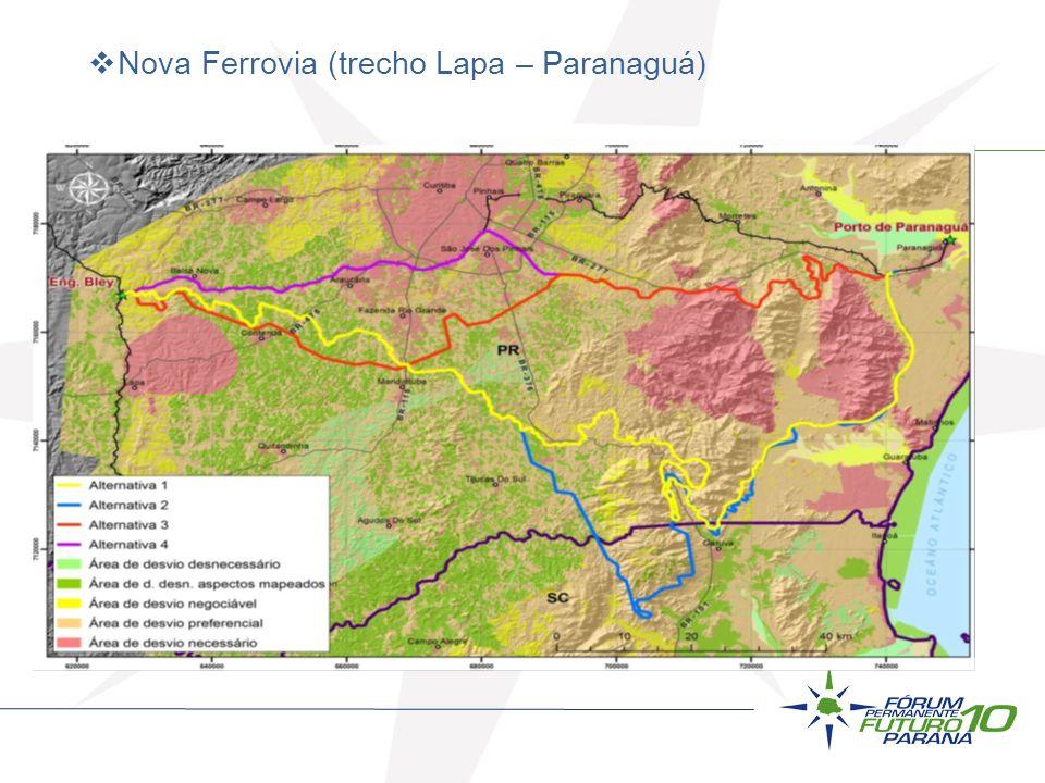 Nova Ferrovia (trecho Lapa – Paranaguá)
