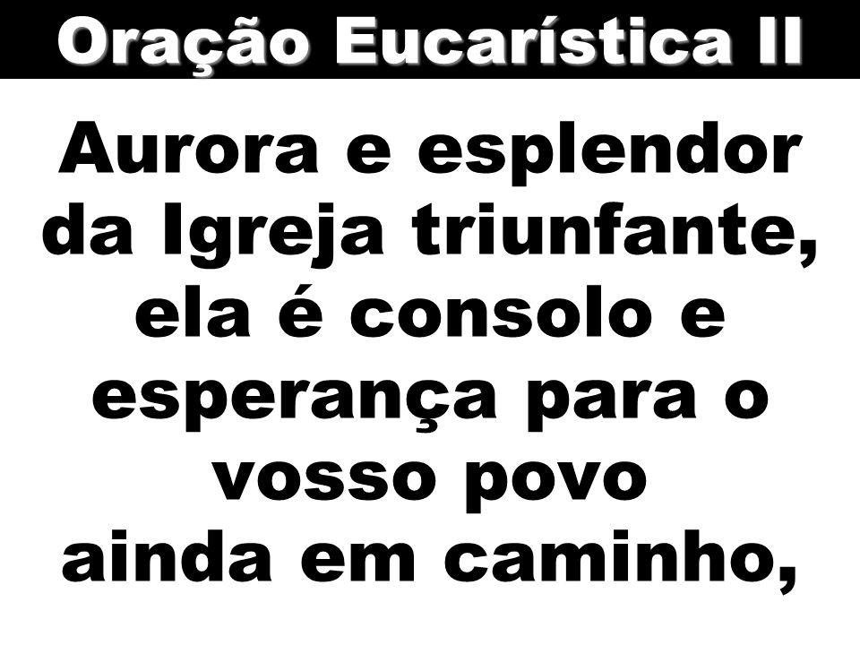 Aurora e esplendor da Igreja triunfante, ela é consolo e esperança para o vosso povo ainda em caminho, Oração Eucarística II