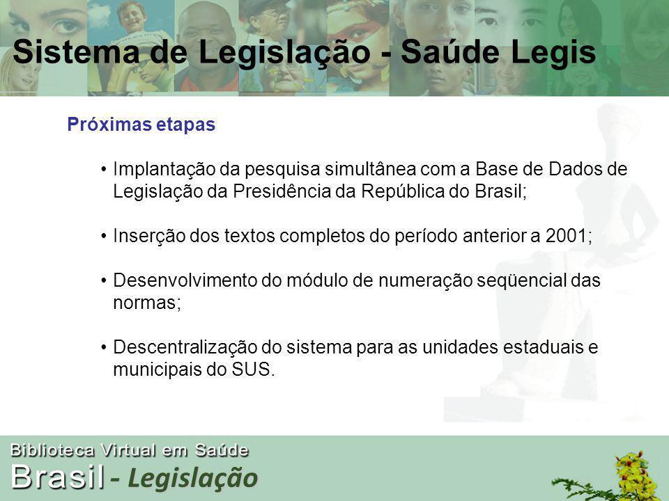 - Legislação Sistema de Legislação - Saúde Legis
