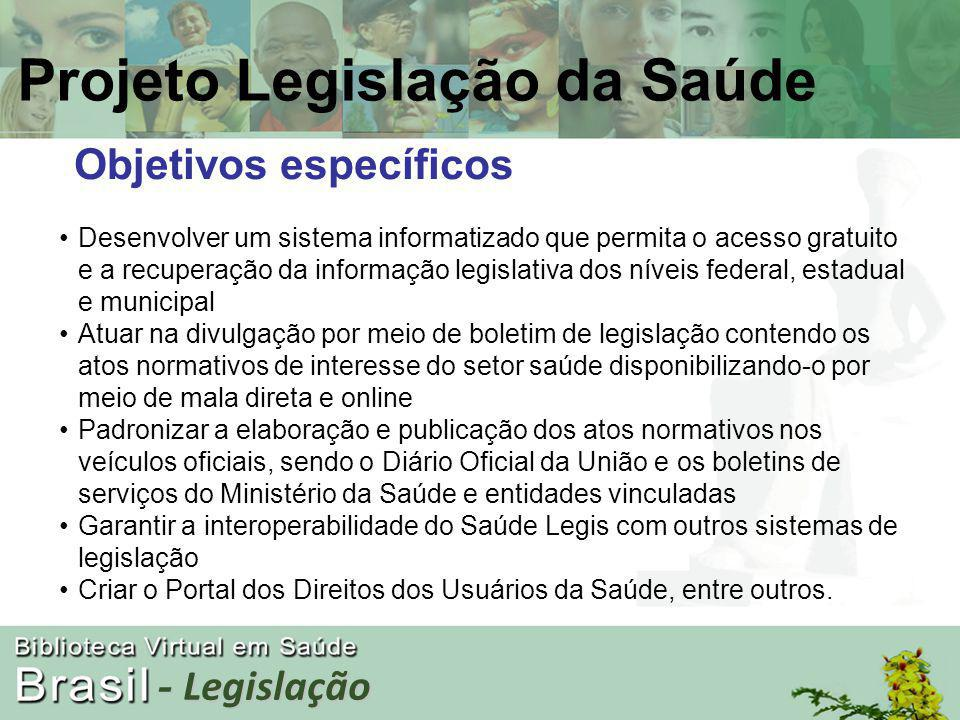 - Legislação Público-alvo Gestores, conselheiros, profissionais da saúde, promotores, procuradores e usuários.