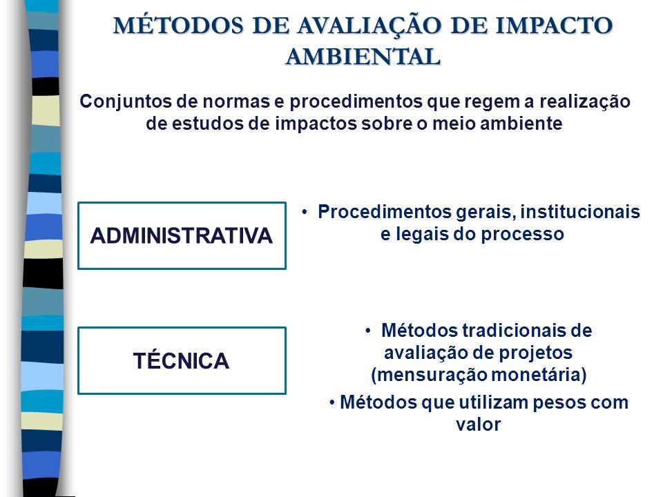 Conjuntos de normas e procedimentos que regem a realização de estudos de impactos sobre o meio ambiente ADMINISTRATIVA Procedimentos gerais, instituci