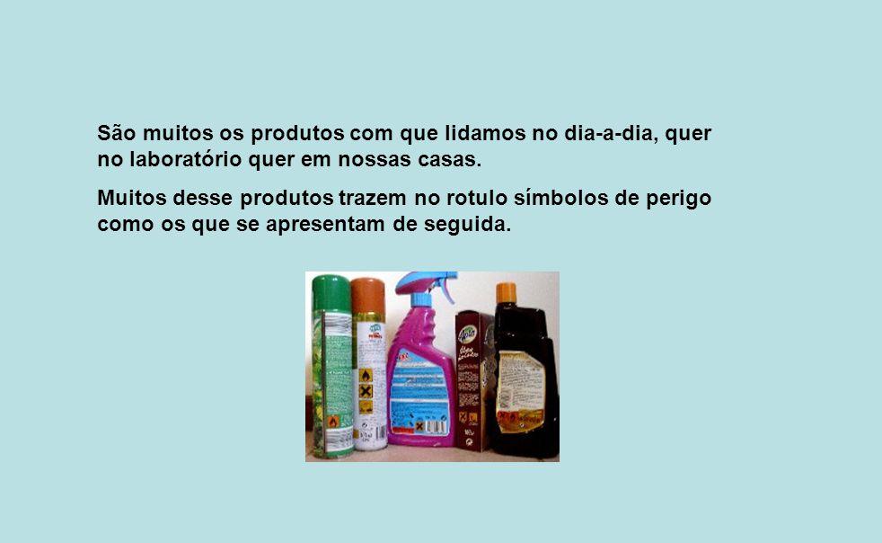 São muitos os produtos com que lidamos no dia-a-dia, quer no laboratório quer em nossas casas. Muitos desse produtos trazem no rotulo símbolos de peri
