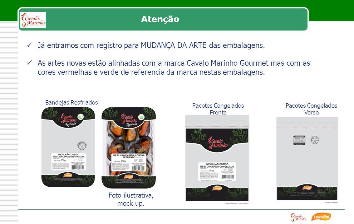 Já entramos com registro para MUDANÇA DA ARTE das embalagens.