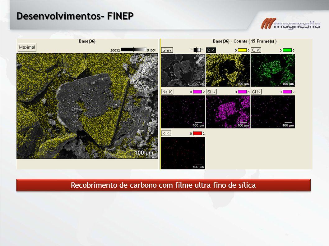 Desenvolvimentos- FINEP Recobrimento de carbono com filme ultra fino de sílica