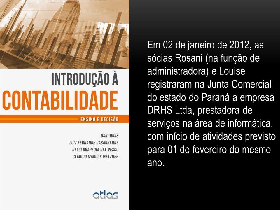 Em 02 de janeiro de 2012, as sócias Rosani (na função de administradora) e Louise registraram na Junta Comercial do estado do Paraná a empresa DRHS Ltda, prestadora de serviços na área de informática, com início de atividades previsto para 01 de fevereiro do mesmo ano.
