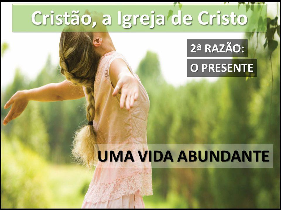 Cristão, a Igreja de Cristo UMA VIDA ABUNDANTE O PRESENTE 2ª RAZÃO: