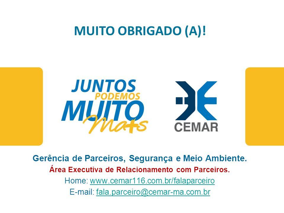 www.cemar-ma.com.br Atendimento ao cliente 0800 286 0196 MUITO OBRIGADO (A)! Gerência de Parceiros, Segurança e Meio Ambiente. Área Executiva de Relac