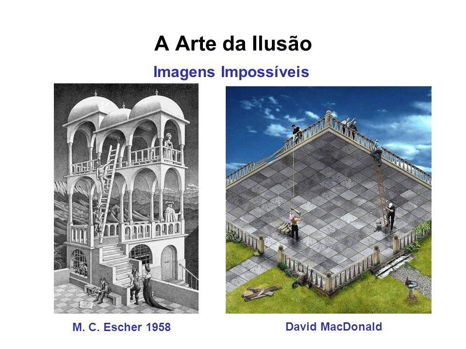 A Arte da Ilusão David MacDonald M. C. Escher 1958 Imagens Impossíveis