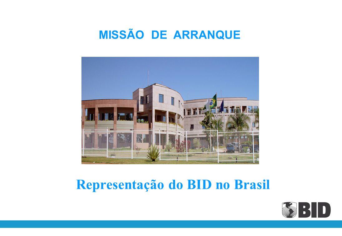 Representação do BID no Brasil MISSÃO DE ARRANQUE