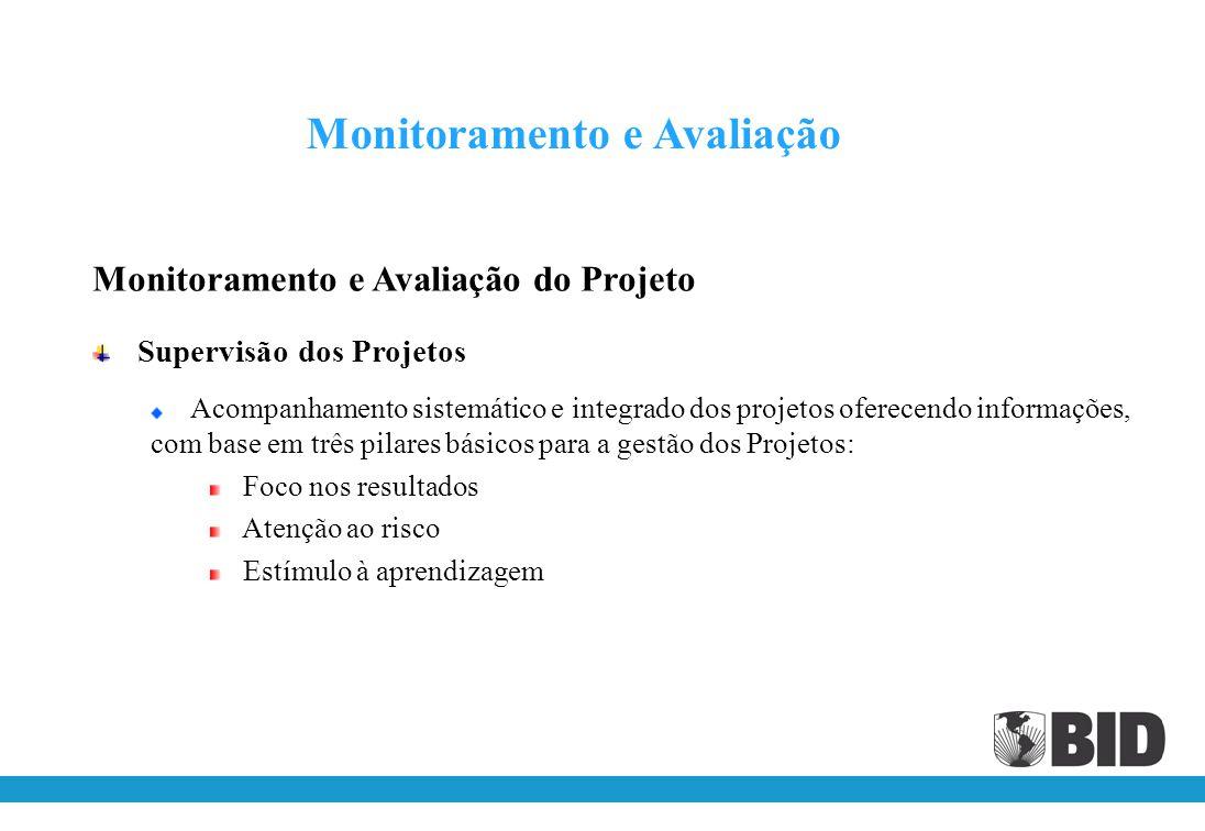 Monitoramento e Avaliação do Projeto (cont.) Instrumentos Plano Operacional (POA) Plano de Aquisições (PA) Relatórios Semestrais de Progresso Relatóri