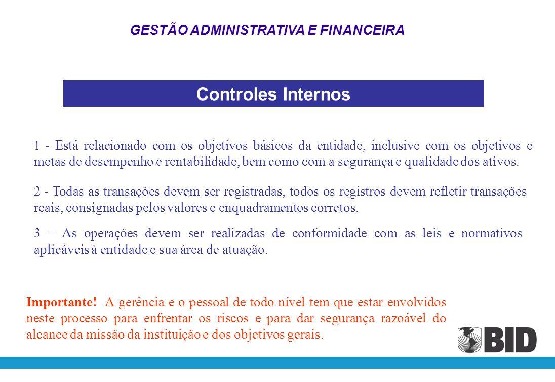 Controle Interno DEFINIÇÃO: Controle interno é um processo, realizado pela administração, direção e outro pessoal de uma entidade, desenhado com a fin