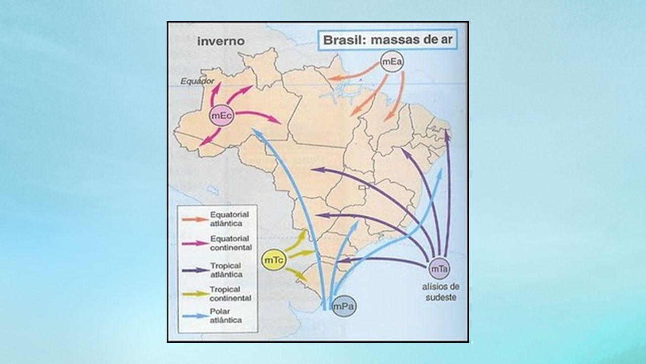 Dinâmica das Massas de Ar As massas de ar são os elementos mais importantes para explicar as mudanças no comportamento dos fenômenos atmosféricos.